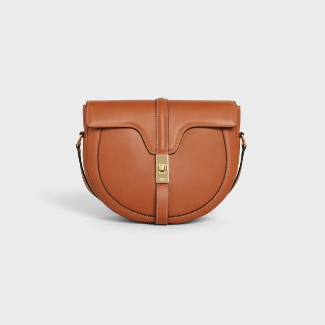 CELINE SMALL BESACE 16 BAG IN SATINATED CALFSKIN TAN