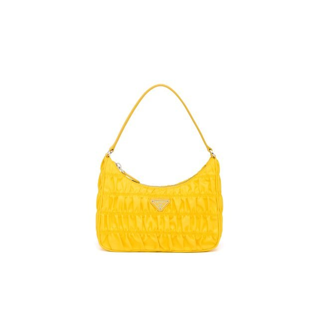 PRADA Nylon and Saffiano leather mini bag Yellow
