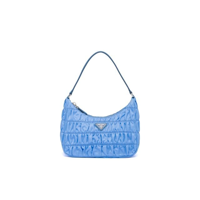 PRADA Nylon and Saffiano leather mini bag Blue