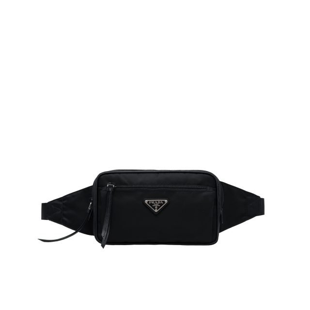 Prada Nylon and leather belt bag Black