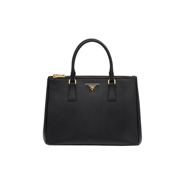 Prada Galleria Medium Saffiano Leather Bag Black