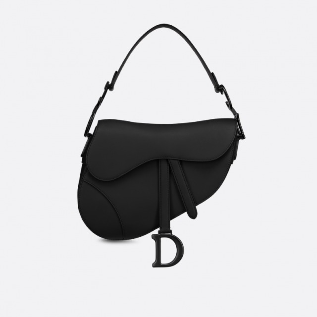 DIOR SADDLE ULTRA MATTE BAG BLACK