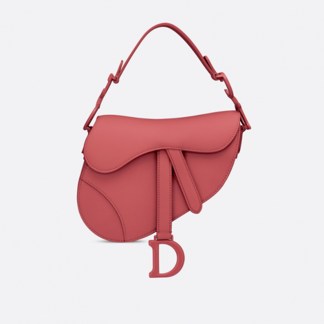 DIOR MINI SADDLE ULTRA MATTE CALFSKIN BAG DUSTY PINK