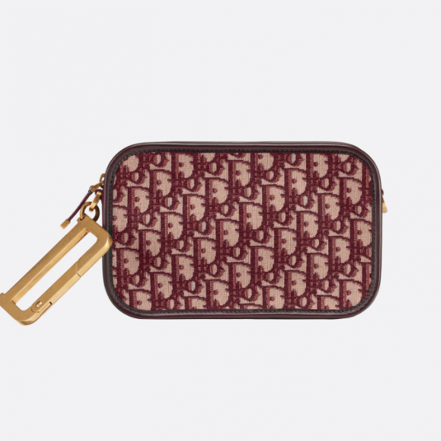 DIOR QUAKE DIOR OBLIQUE CLUTCH RED